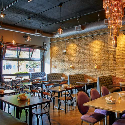 dining room main street social restaurant in libertyville.