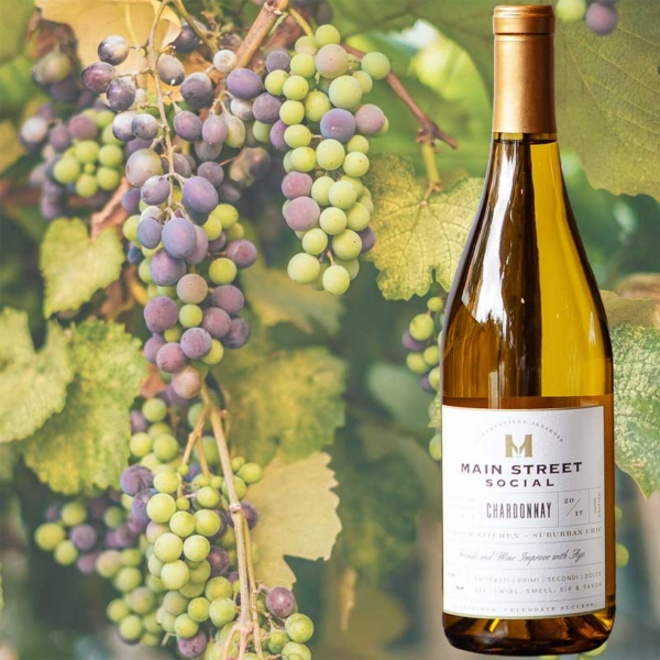 Chardonnay Wines by Main Street Social restaurant in Libertyville